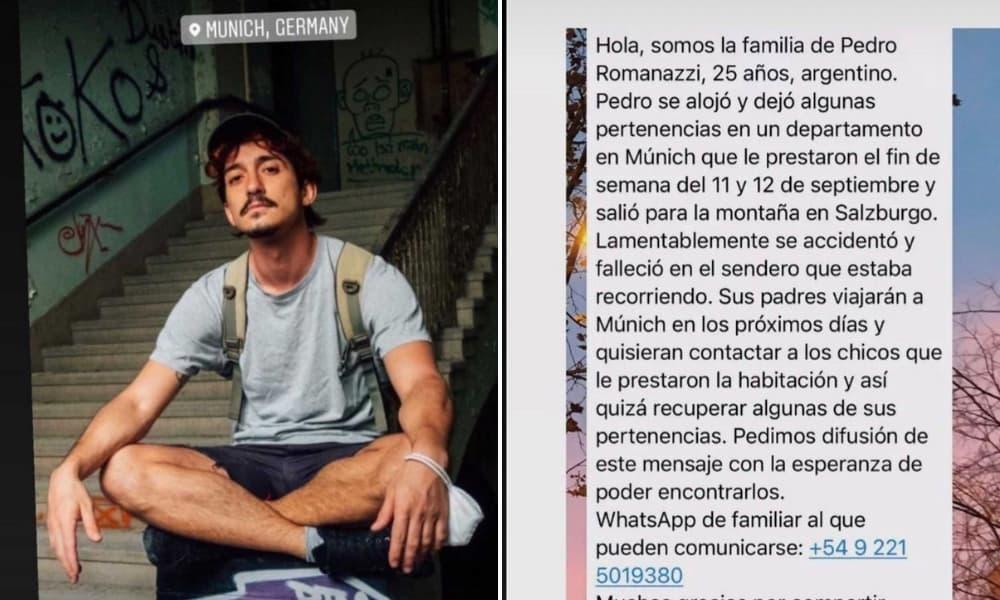 Murió en un accidente viajando por Múnich y su familia busca desesperada a los compañeros de habitación para recuperar sus pertenencias