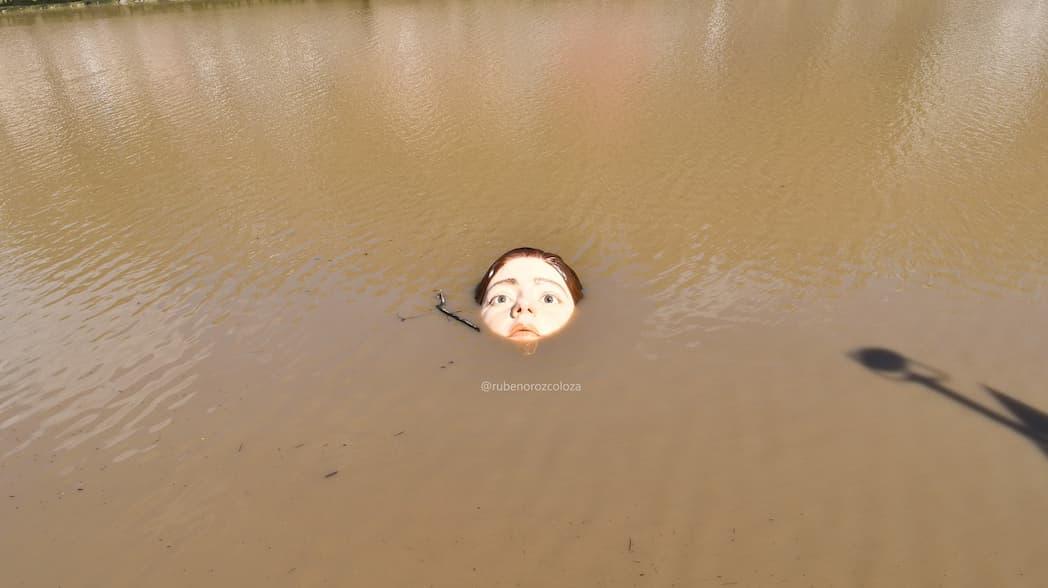 Estatua de niña ahogada causa revuelo en España