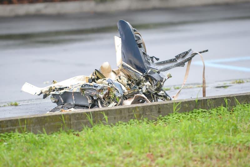 Fuselaje De Avión Que Se Estrelló Contra Un Edificio En Milán