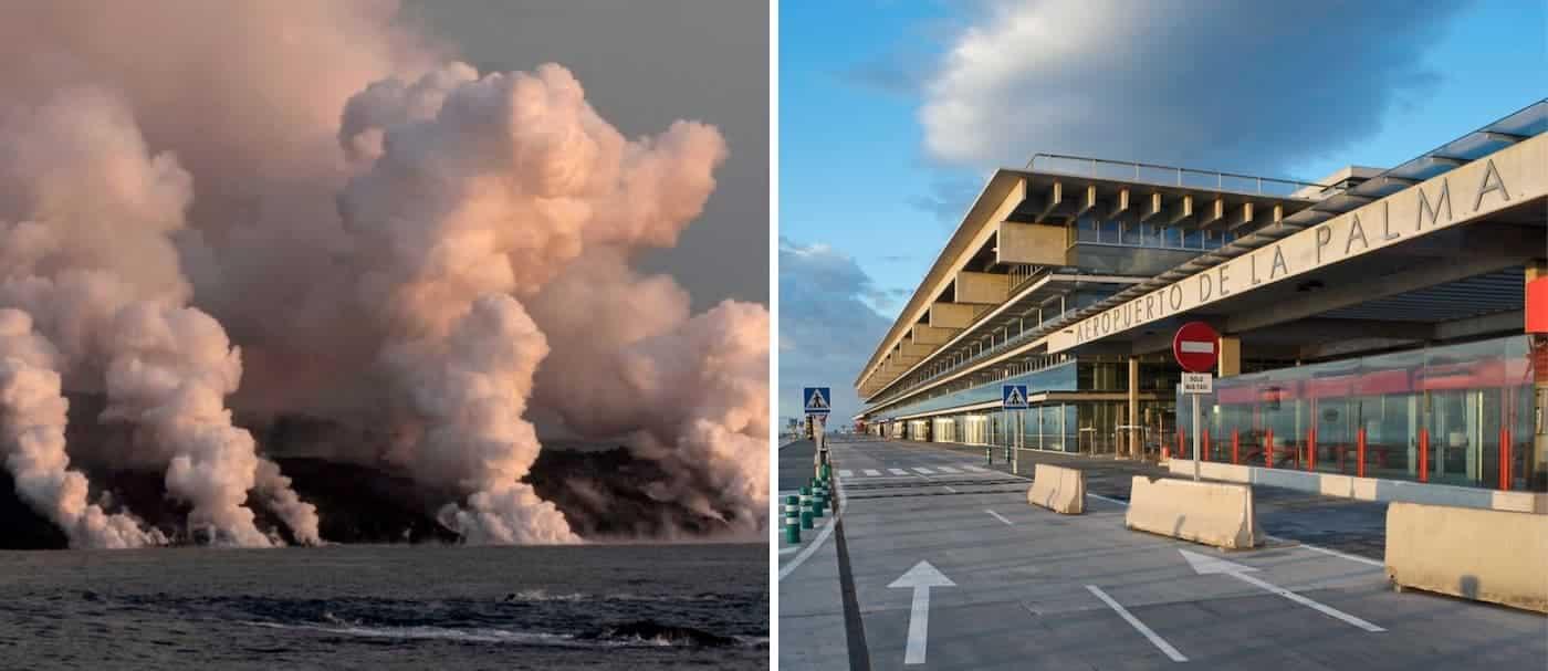 Nuevamente cierra el aeropuerto de La Palma, por una nube de cenizas