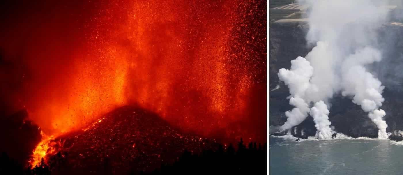 Un nuevo flujo de lava del volcán de La Palma continúa generando daños en la isla canaria
