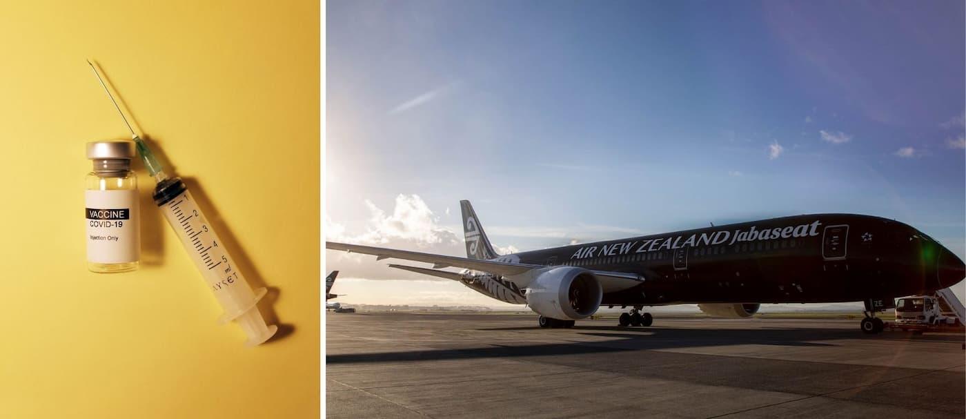 Air New Zealand transforma una de sus naves en un centro de vacunación