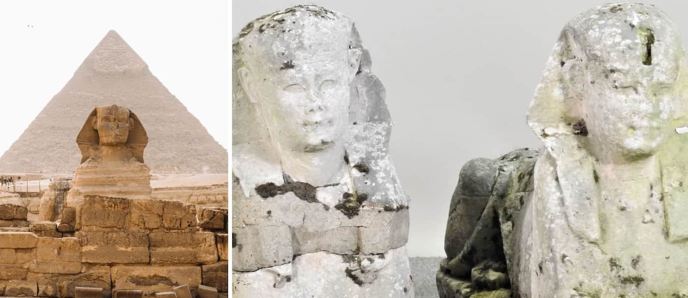 Dos estatuas de jardín descuidadas se vendieron por más de 200.000 dólares porque podrían ser obras del antiguo Egipto