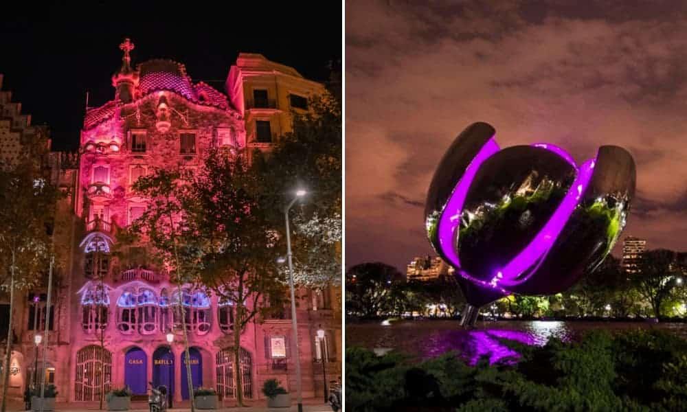 Día Internacional del Cáncer de Mama 2021 Monumentos de todo el mundo se iluminan de rosa para concientización-4