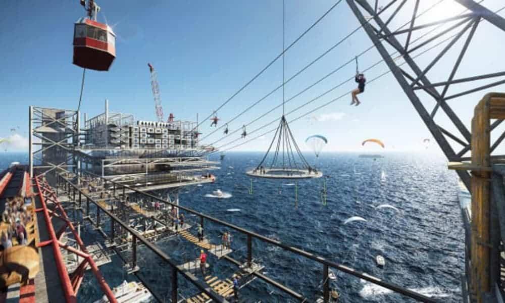 Arabia Saudita abrirá The Rig, un parque temático extremo sobre una antigua plataforma petrolera-1