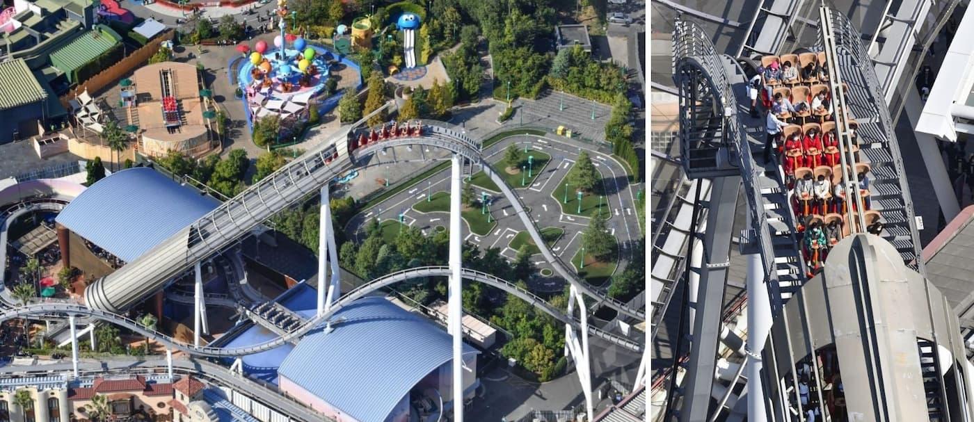 35 personas quedaron atrapadas en lo alto de una montaña rusa en Universal Studios Japan