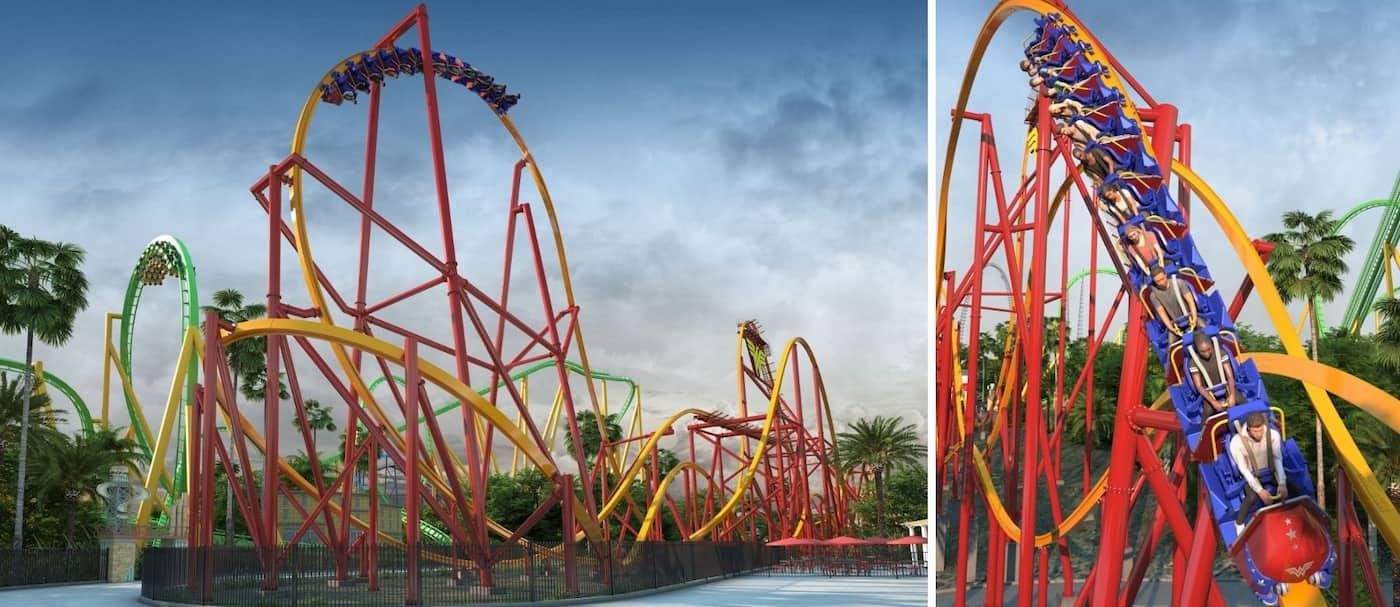 Six Flags Magic Mountain anunció una nueva montaña rusa con la que romperá un récord mundial