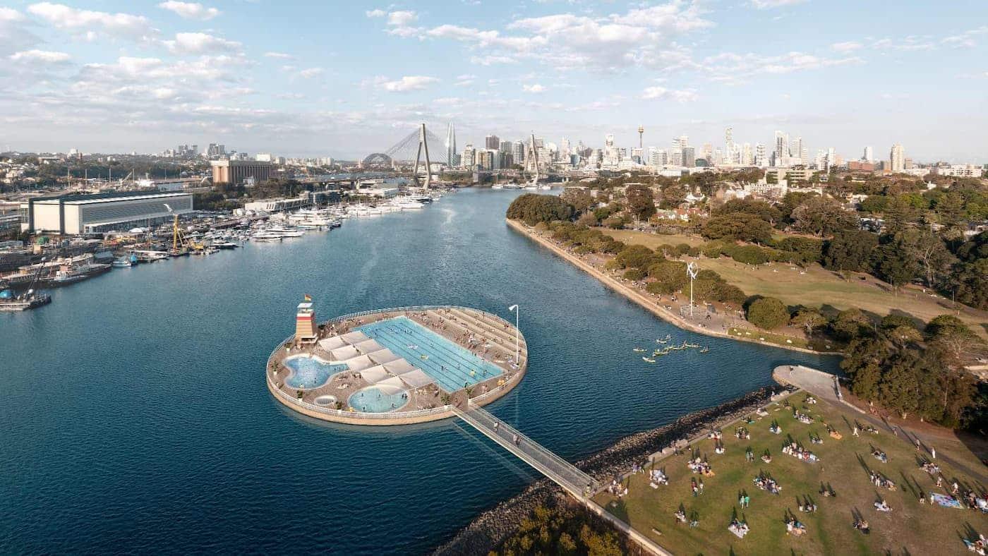 Sídney podría tener piletas de natación en su icónico puerto